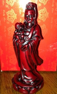 Kwan Yin with a baby